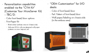 Customisation possibilities from HP